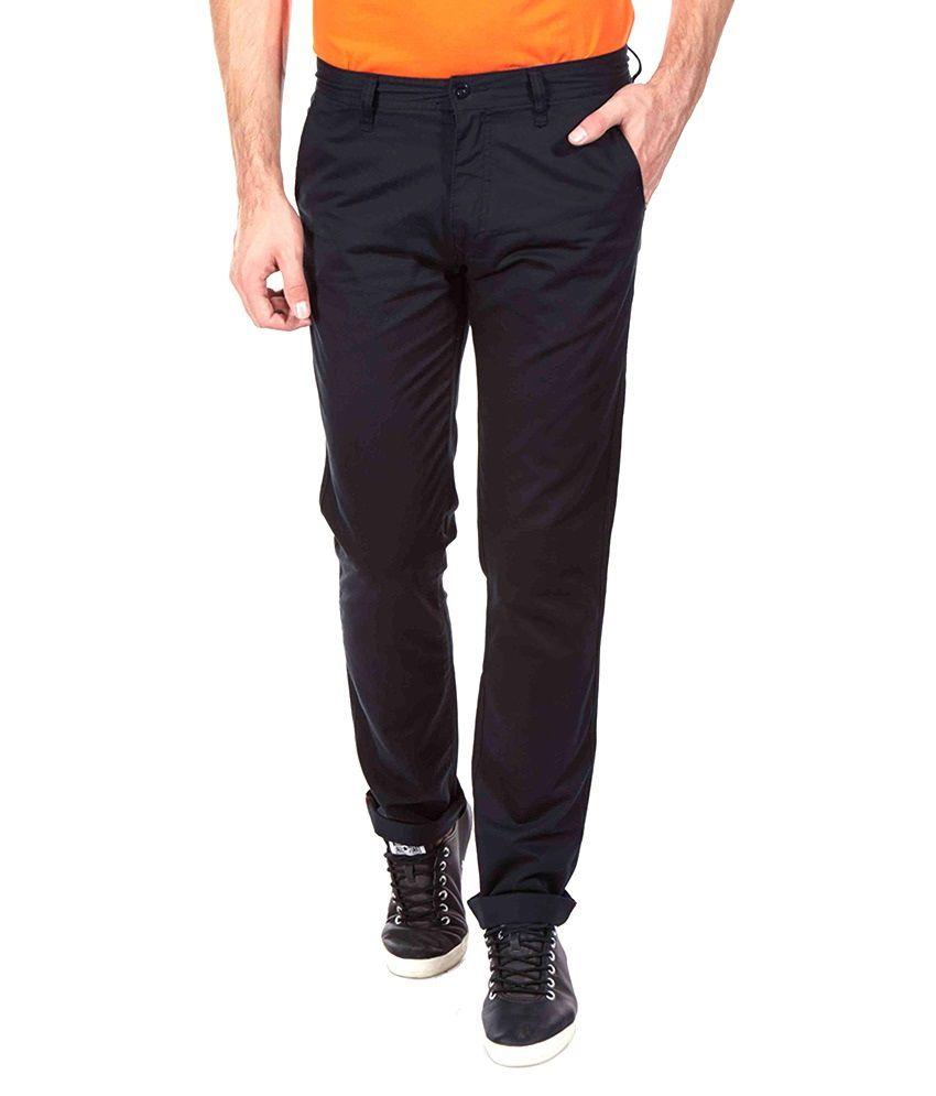 Aeron Black Slim Fit Casual Trouser