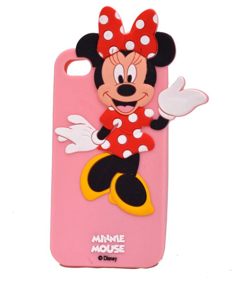 huge discount 6a23e 43aa0 BMS Mickey Mouse Cartoon Back Cover For Apple iPhone 4S - Plain Back ...