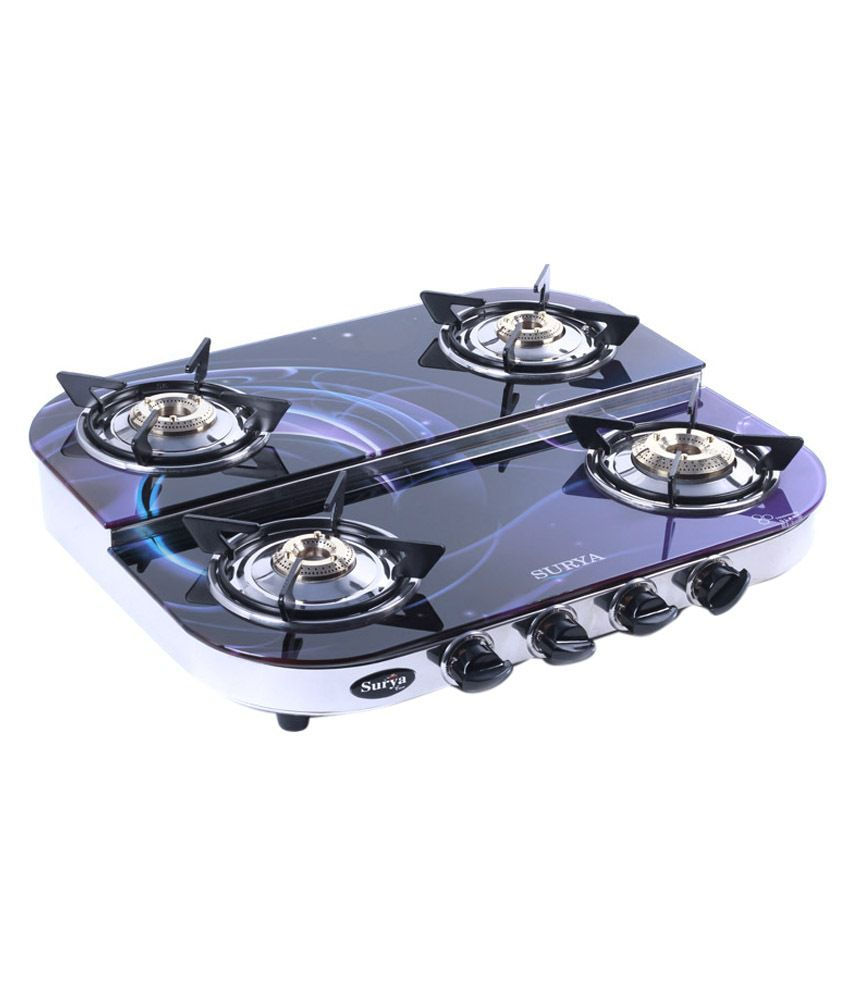 RBJ 4GSBLK Manual Gas Cooktop (4 Burner)