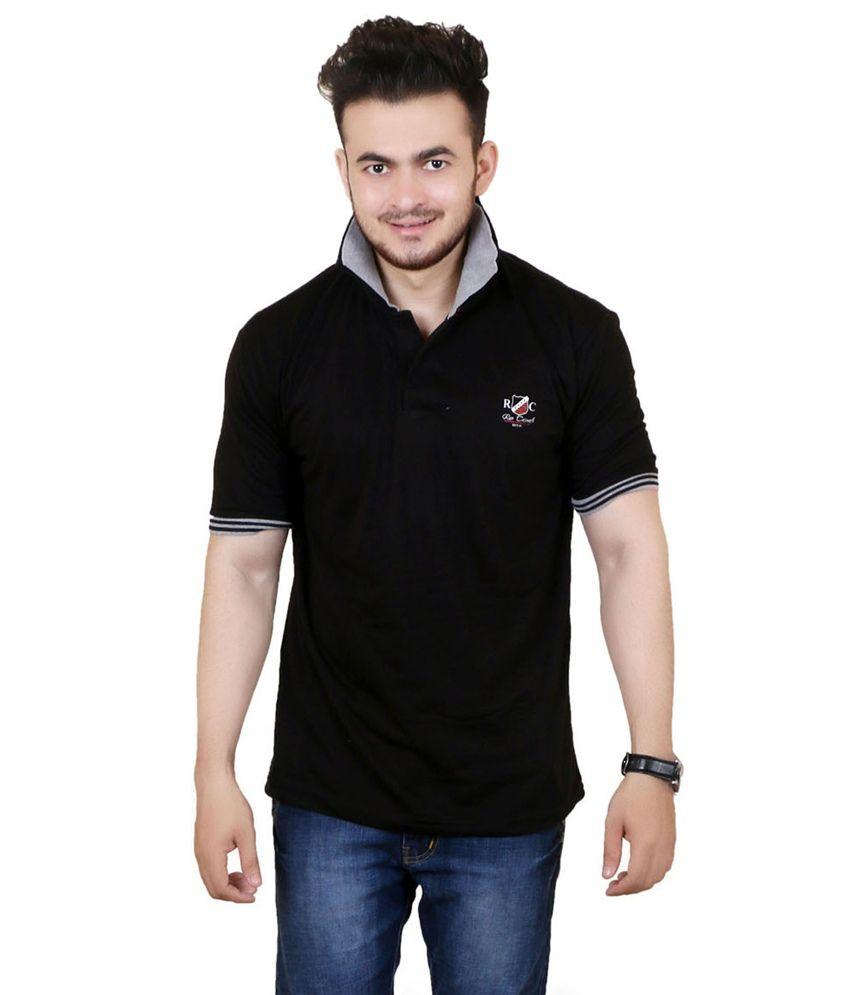 Zrestha Black 100 Percent Cotton T Shirt