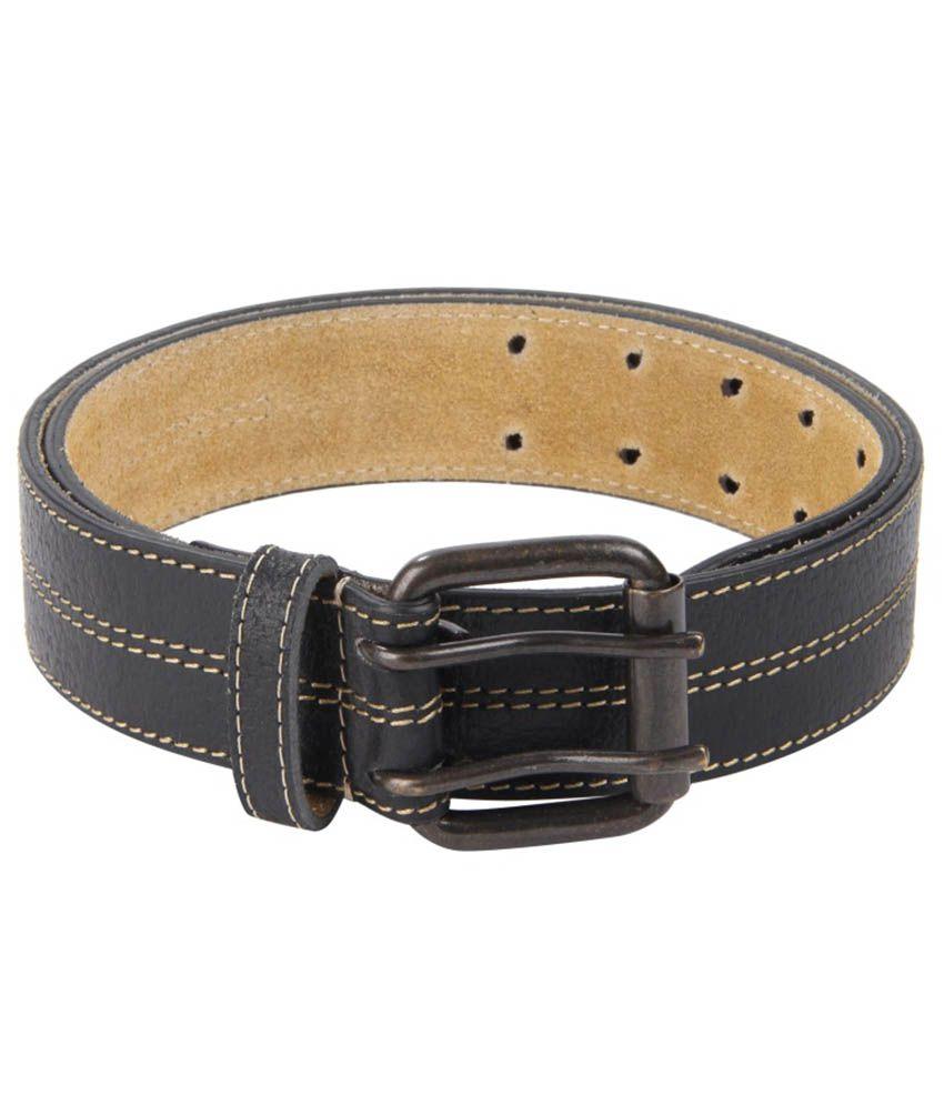 Kaizu Black Casual Single Belt For Men