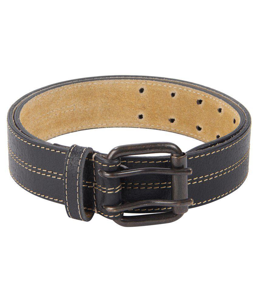 Kaizu Black Leather Belt