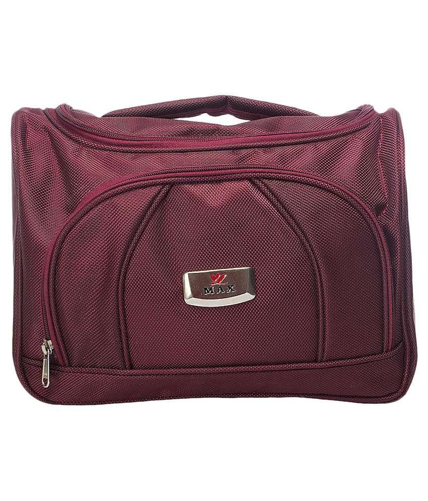 cf69c346ea7 Buy La Flora Maroon Vanity Kit Bag at Best Prices in India - Snapdeal