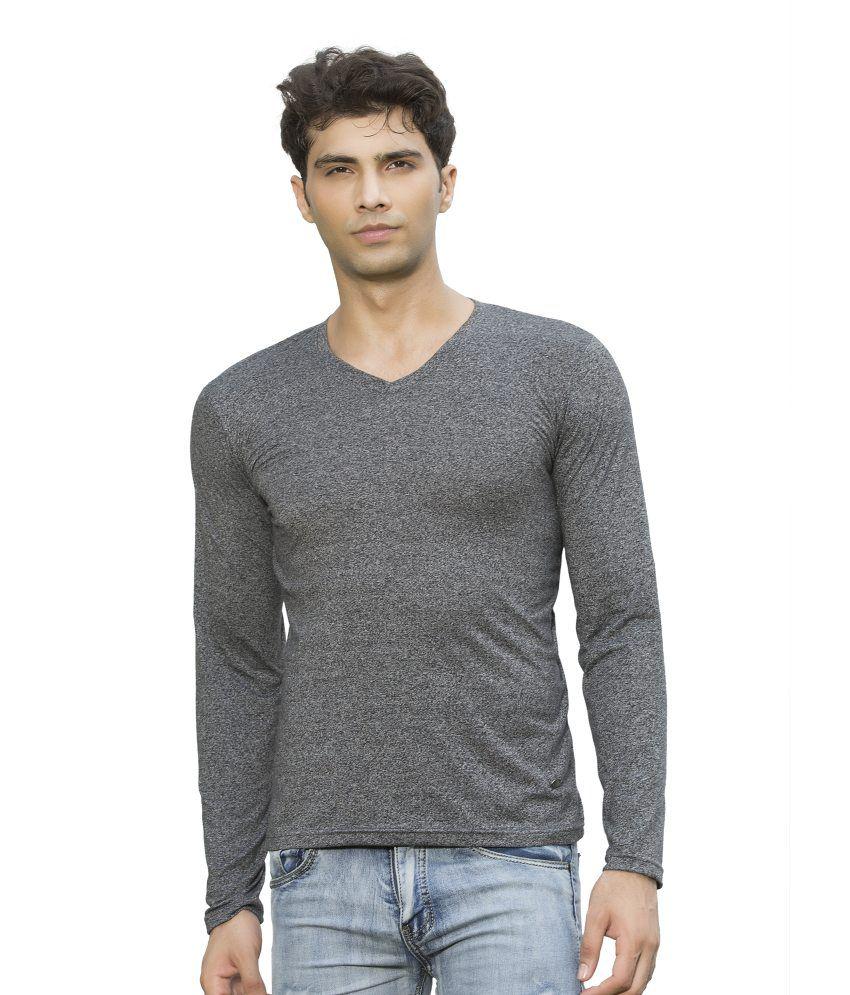 Maniac Grey Cotton Blend T-Shirt