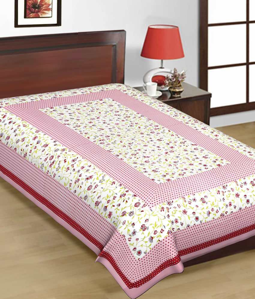 ... UniqChoice Pure 100% Cotton Jaipuri Traditional Printed 4 Single Bed  Sheet Combo ...