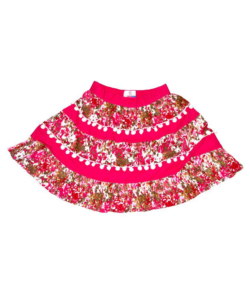 Young Birds Pink Cotton Skirt