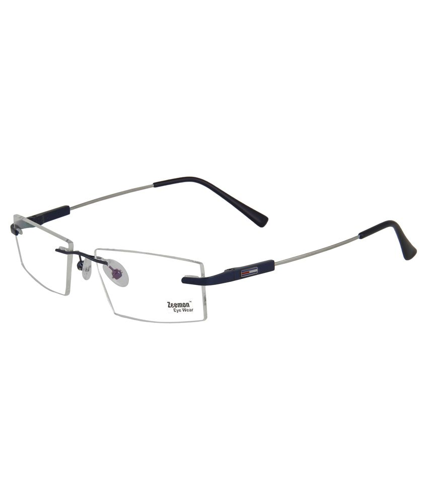 dc05077ac74 Zeemon Blue Metal Rimless Eyeglasses Frame - Buy Zeemon Blue Metal Rimless  Eyeglasses Frame Online at Low Price - Snapdeal