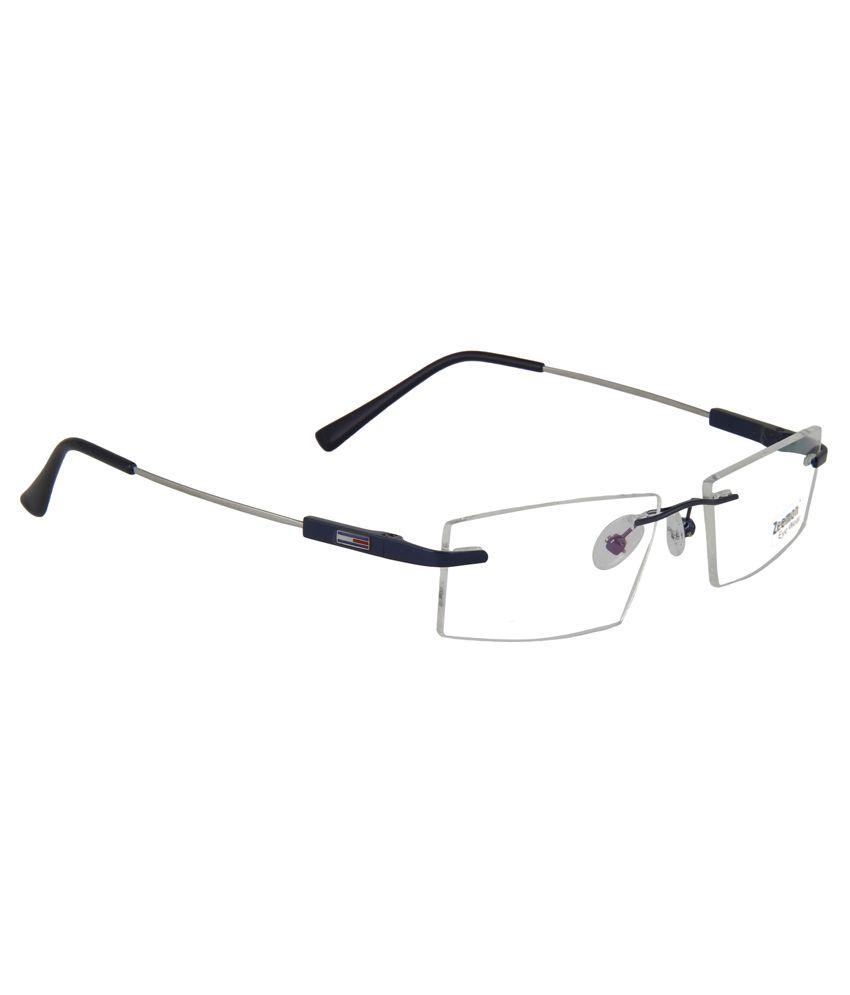 0f377716f16 Zeemon Blue Metal Rimless Eyeglasses Frame - Buy Zeemon Blue Metal ...