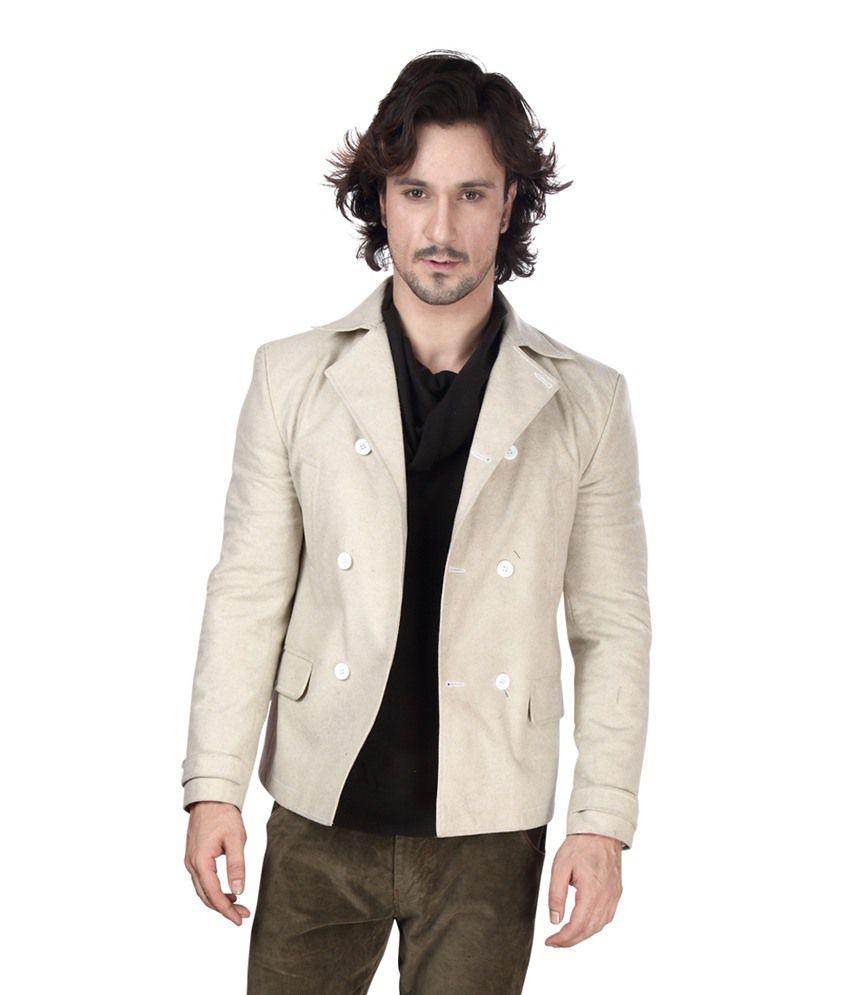 Dheerajsharma Off-White Woollen Blazer