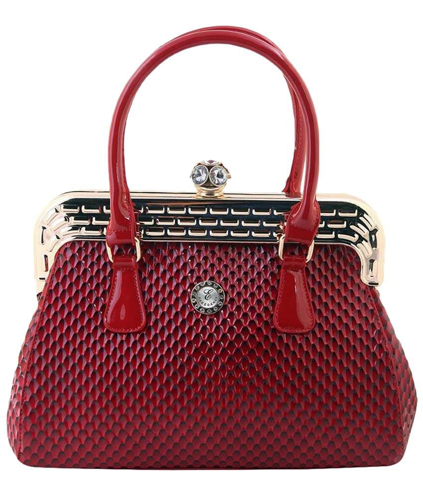 Eleegance Red PU Satchel Bag