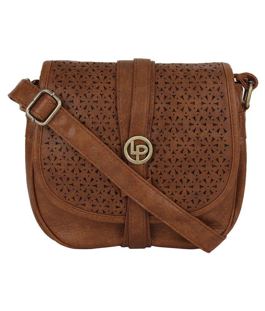 Lino Perros Brown Sling Bag - Buy Lino Perros Brown Sling Bag ...