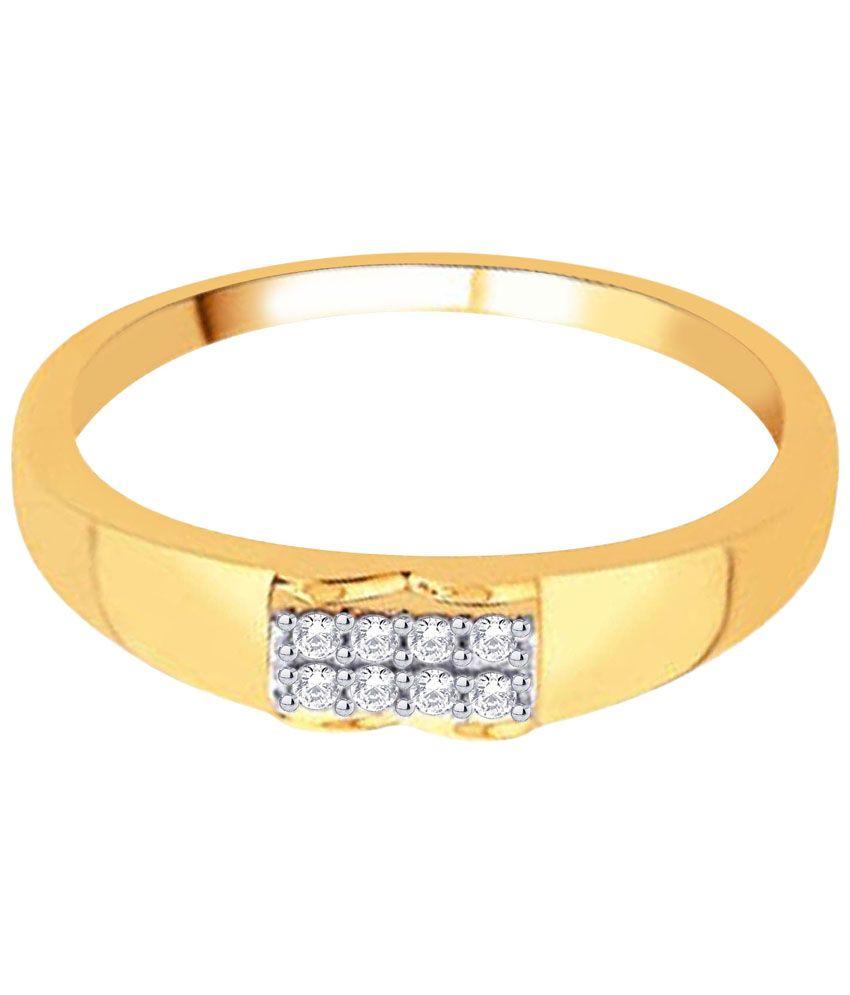 D'damas 18 Kt Gold & Diamond Contemporary Ring for Men: Buy