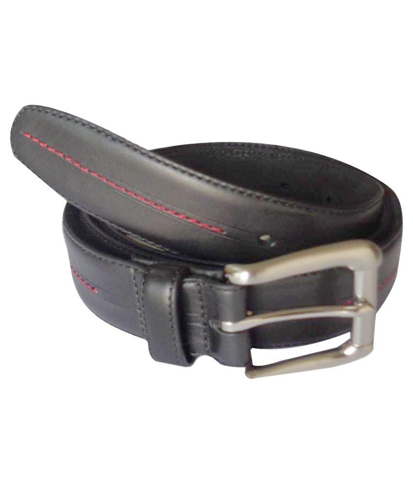 Sirmax Industries Black Leather Formal Belt