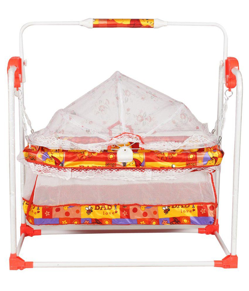 Steelcraft Mobile Swing Cum Bassinet Cot Cradle Crib Red
