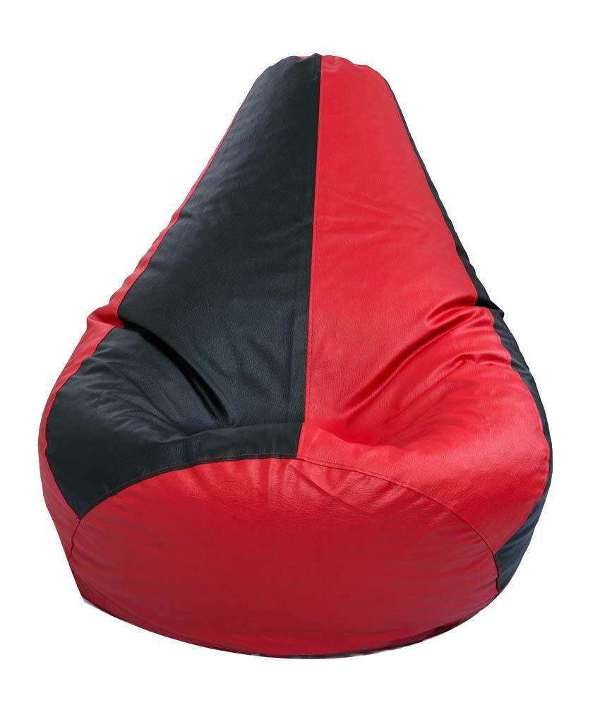 Xxl Bean Bag With Beans In Black Amp Red Buy Xxl Bean Bag