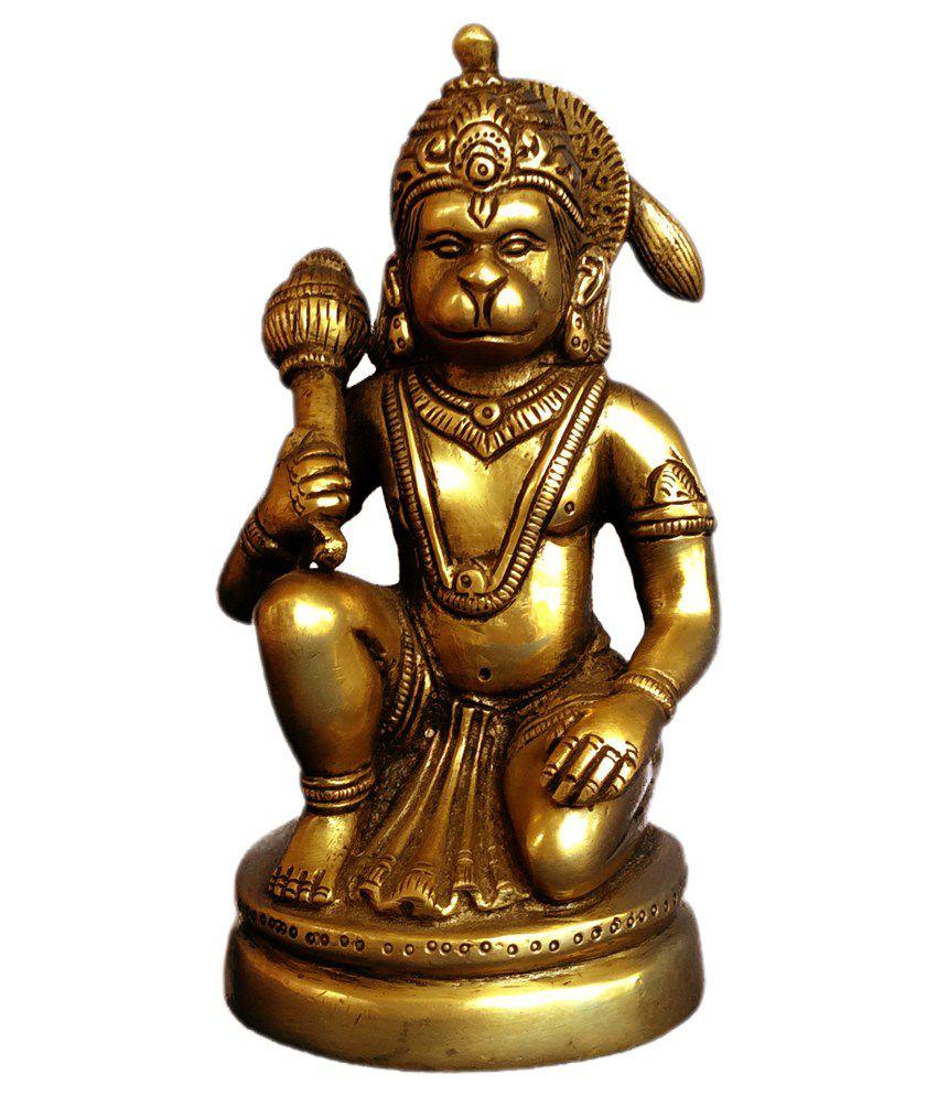 Art Antiqua Hanuman Sitting Idol