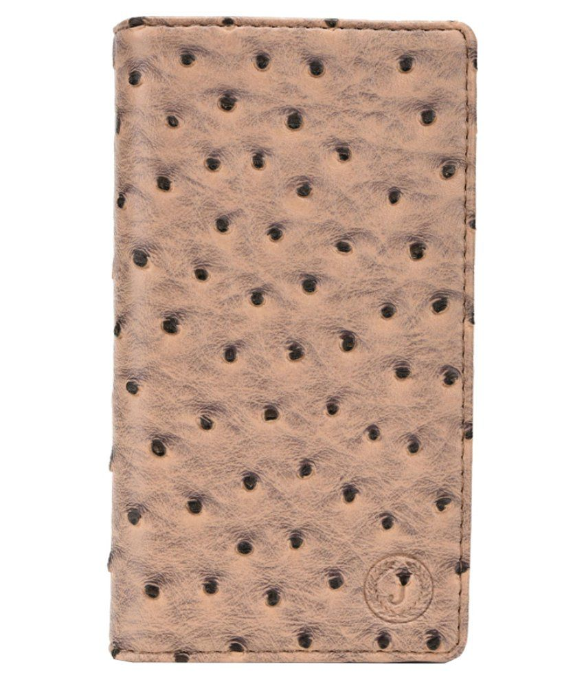 Jo Jo Synthetic Flip Cover Case For Iberry Auxus Nuclea N1 - Brown