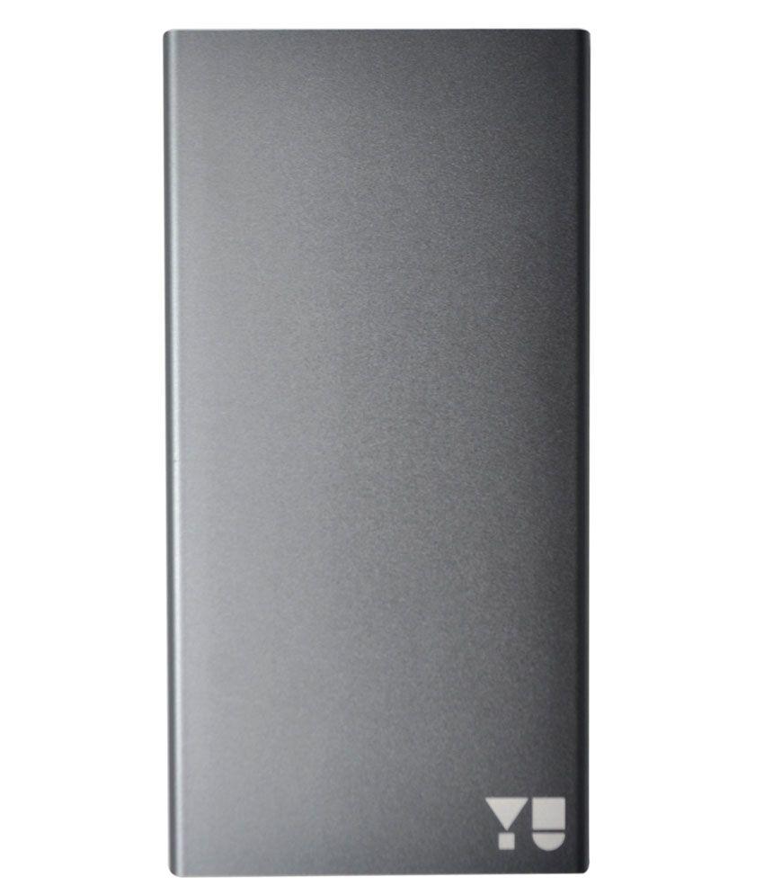 YU JYUICE 5000 mAh Power Bank - Grey ( Shake and Start)