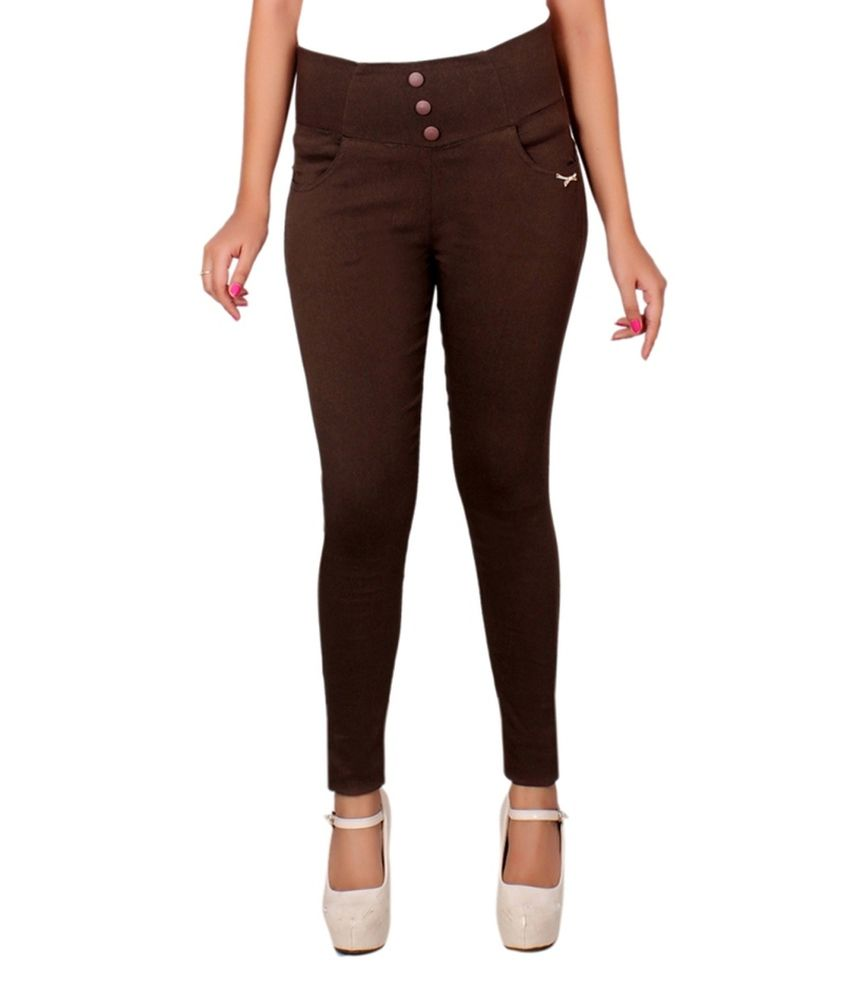 Lgc Brown Poly Cotton Jeggings