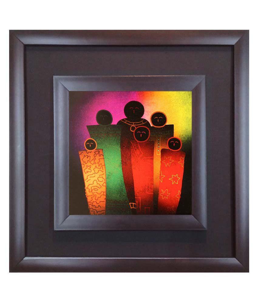 SAF Black Wooden Frame Religious Painting