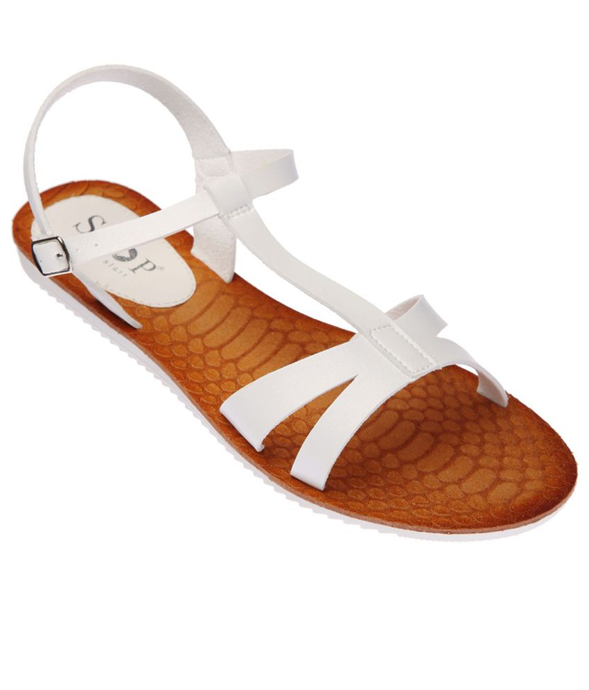 Stop Modish White Sandals