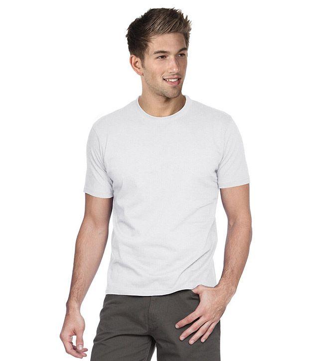 Focuss Communication White Cotton T-shirt (set Of 4)
