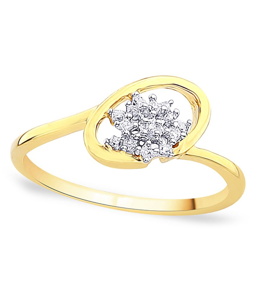 G'Divas Shraddha Kapoor 18 Kt Gold & Diamond Contemporary Ring