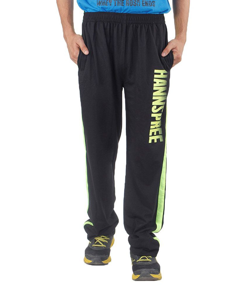 Hannspree Black Cotton Trackpant