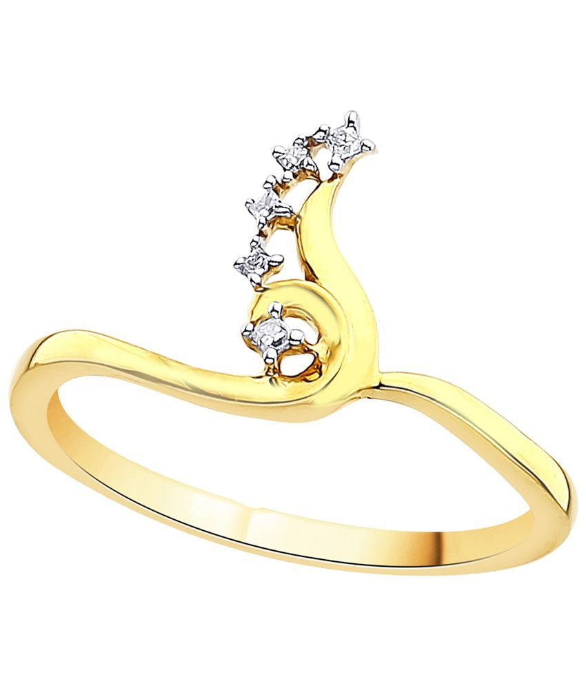 G'Divas 18 Kt Gold & Diamond Contemporary Ring