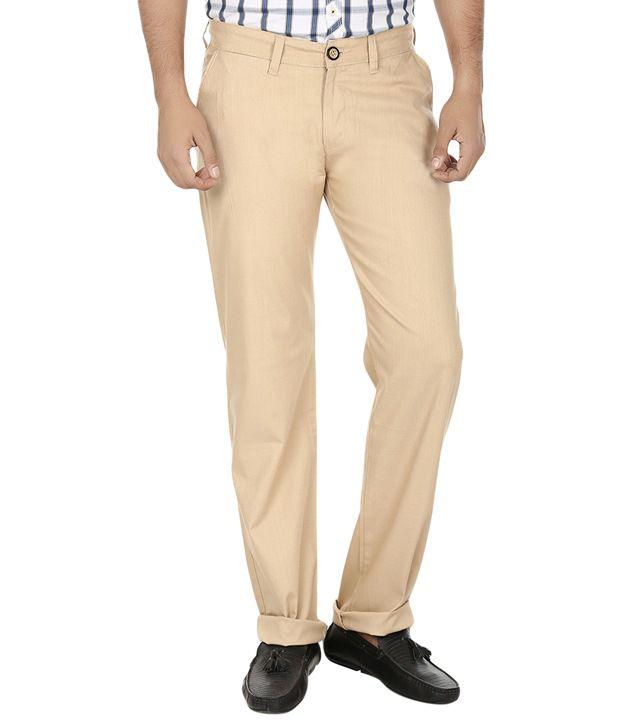 Regale Multi Cotton Lycra Casuals Trousers For Men