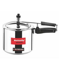Butterfly Durabase 2 Ltrs Induction Friendly Aluminium Inner Lid Pressure Cooker