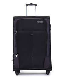 American Tourister Large (Above 70 Cm) 4 Wheel Soft Black Crete Luggage Trolley