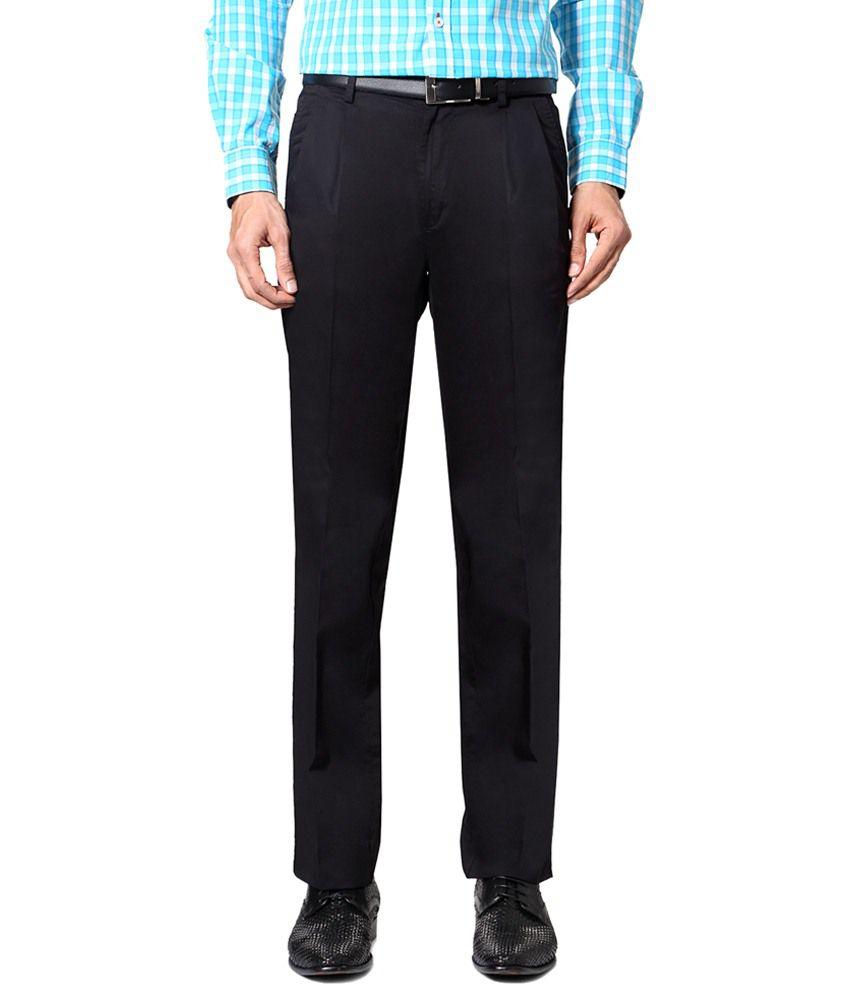 Allen Solly Black Formal Trousers