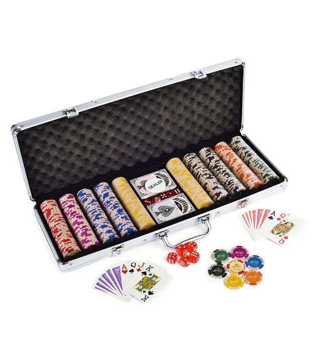 Casinoite Monte Carlo Poker Clay Chips 500 & Freebie: 2 Decks of Fournier Playing Cards