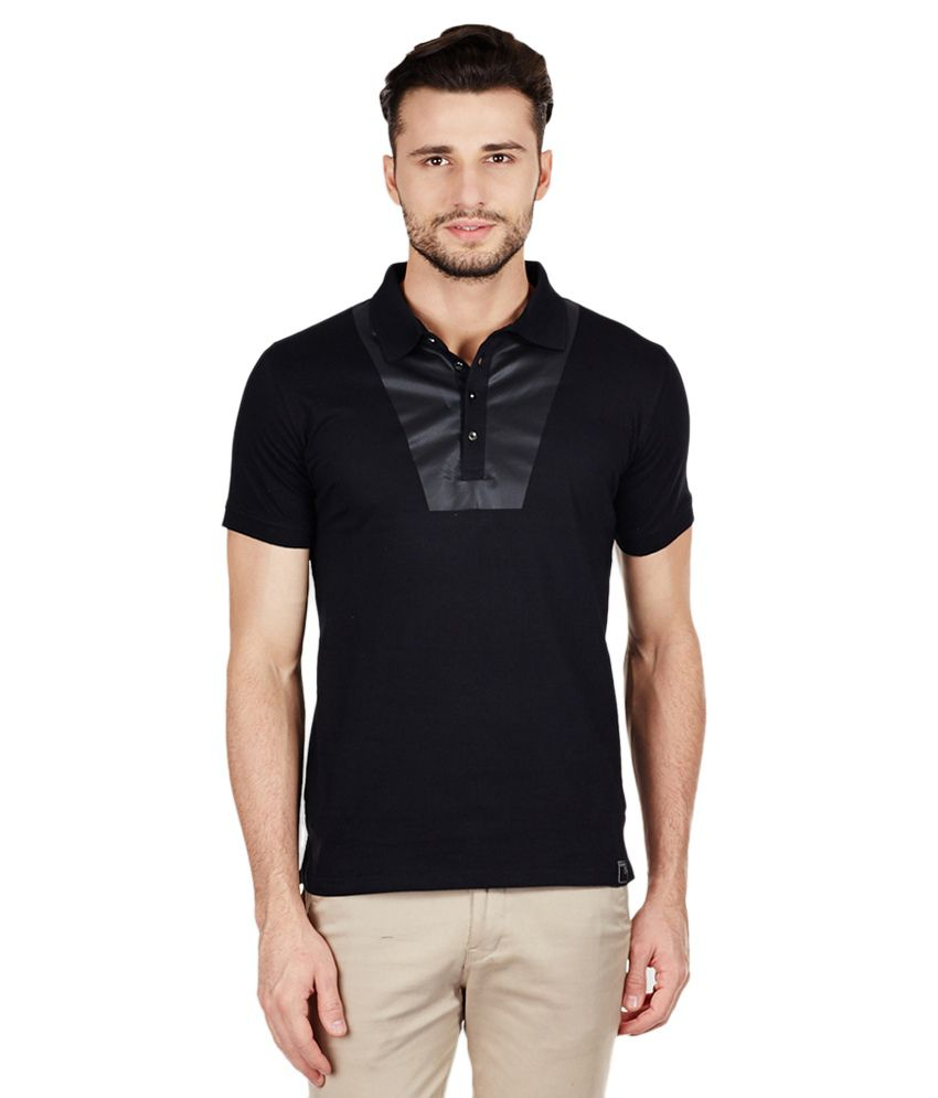 Locomotive Black Polo T-Shirt
