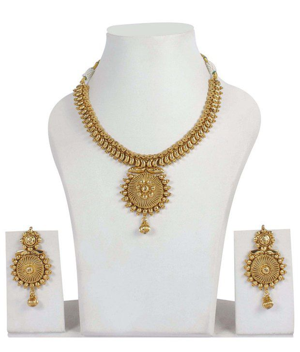 15c02ef3d5 Much More Indian Traditional Jewelry Gold Tone Polki Necklace Earring  Jewellery Set - Buy Much More Indian Traditional Jewelry Gold Tone Polki  Necklace ...