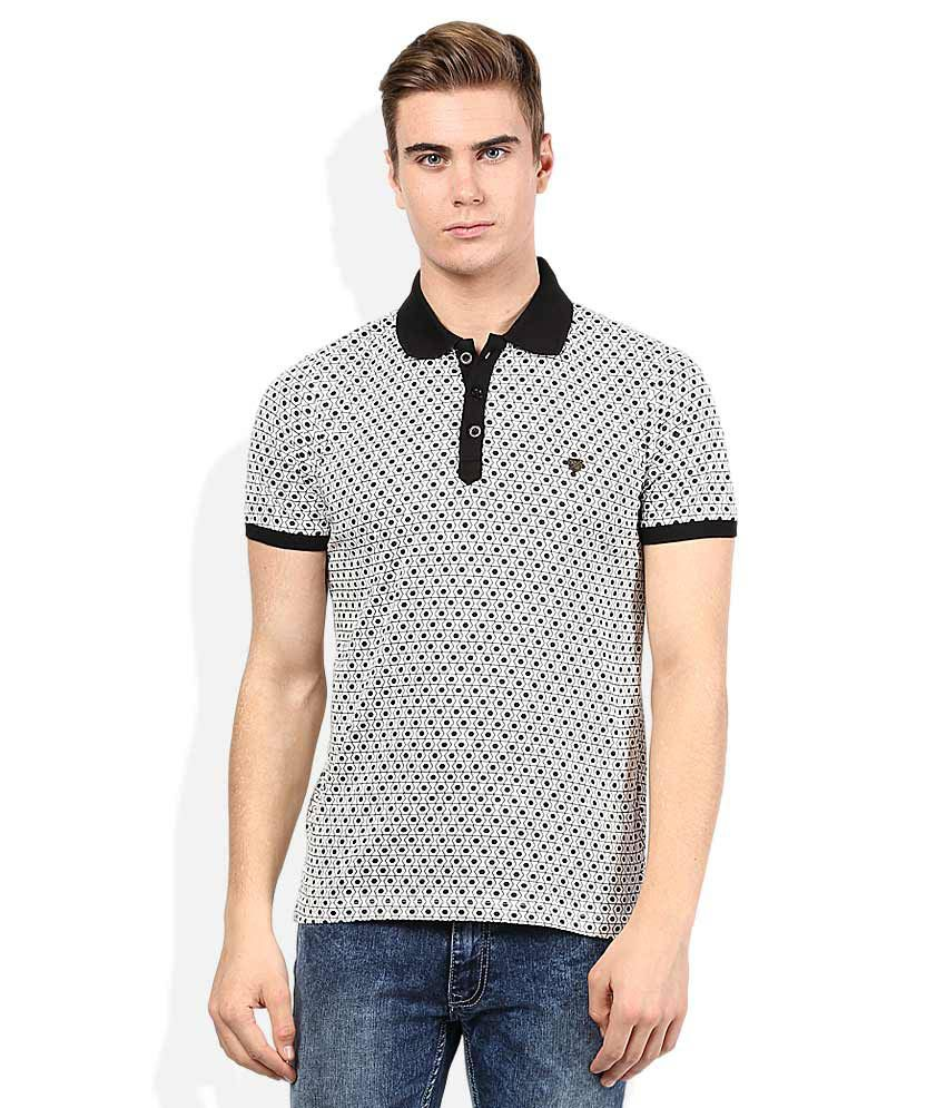 Proline Gray Printed Polo T Shirt