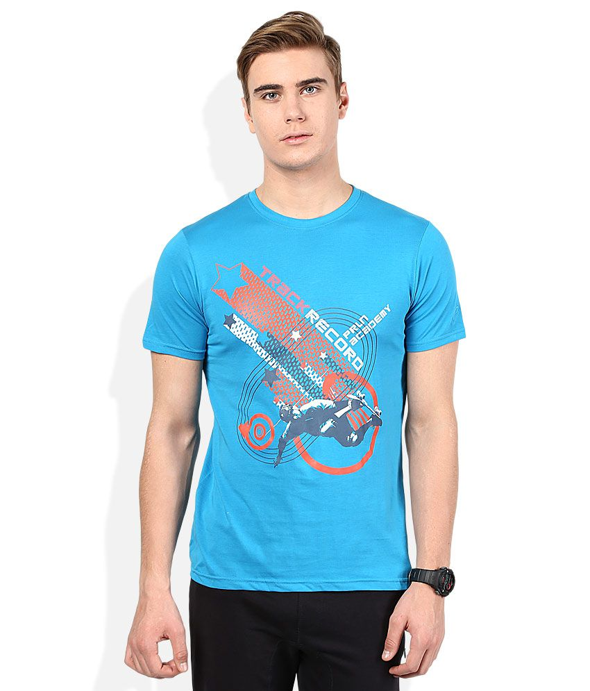 Proline Blue Printed Round Neck T Shirt