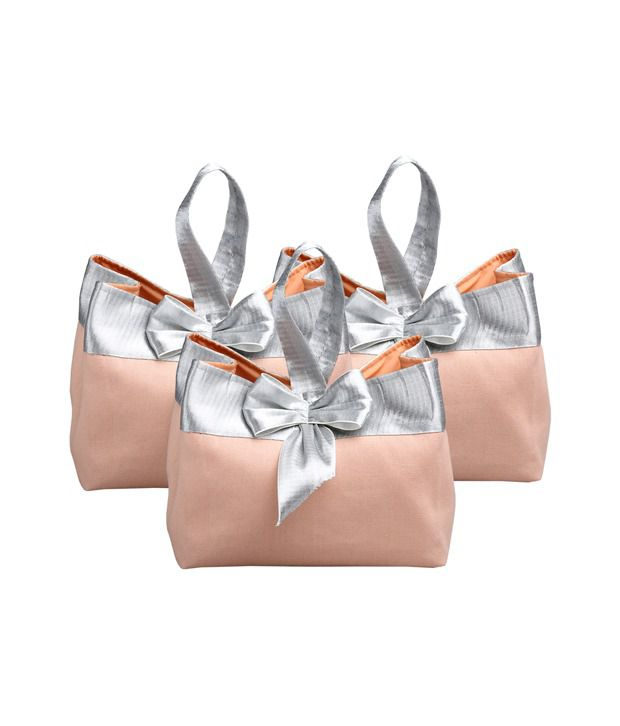 Rishteybags Helen Makeuppink Pack Of 3 Medium Gift Bags