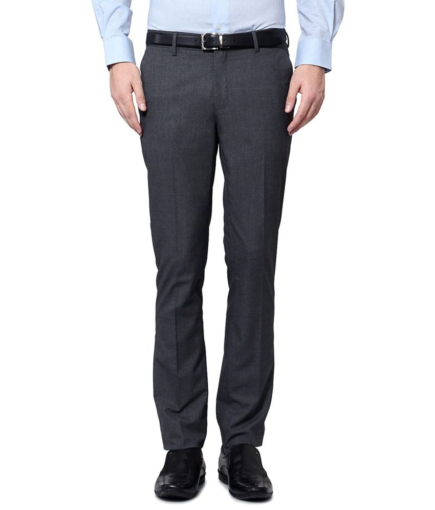 Van Heusen Gray Formal Trousers