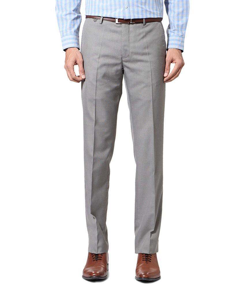 Van Heusen Gray Formal Trousers