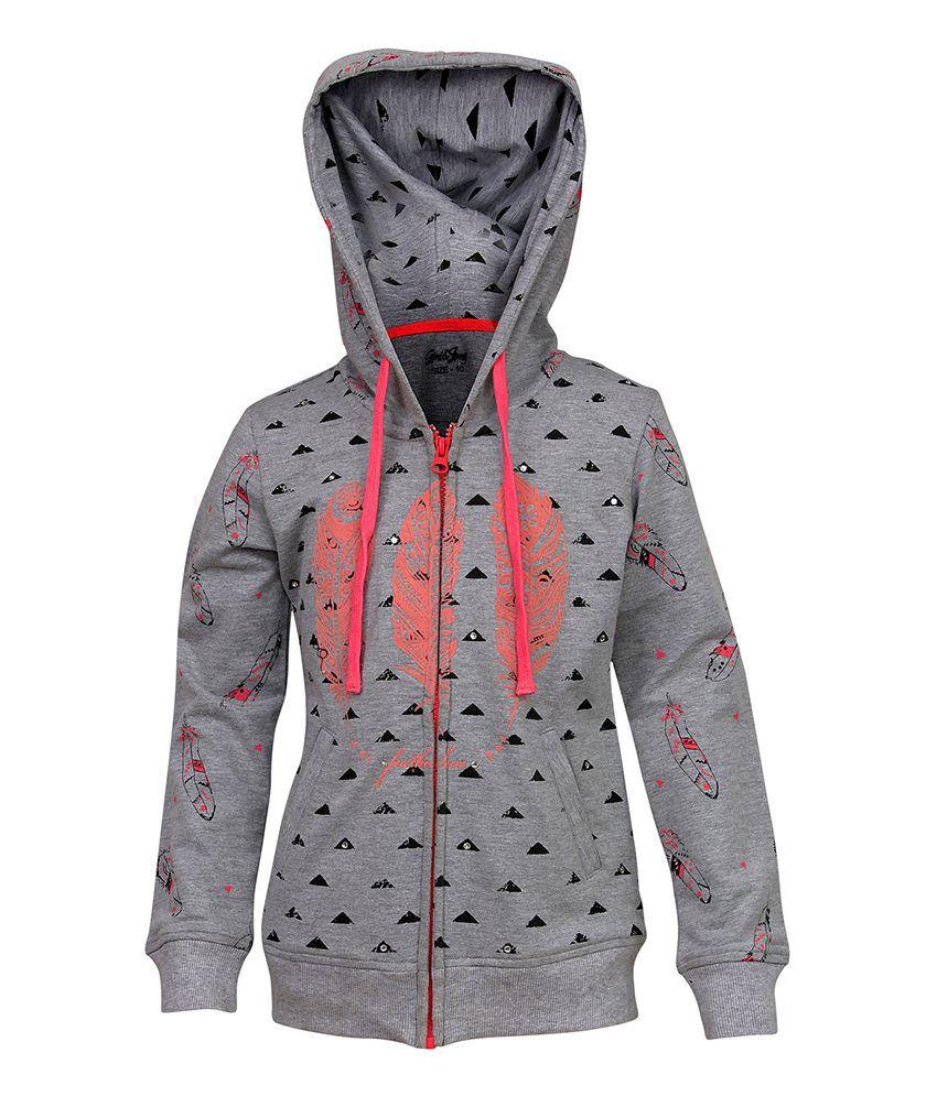 Gini & Jony Gray With Hood Jacket