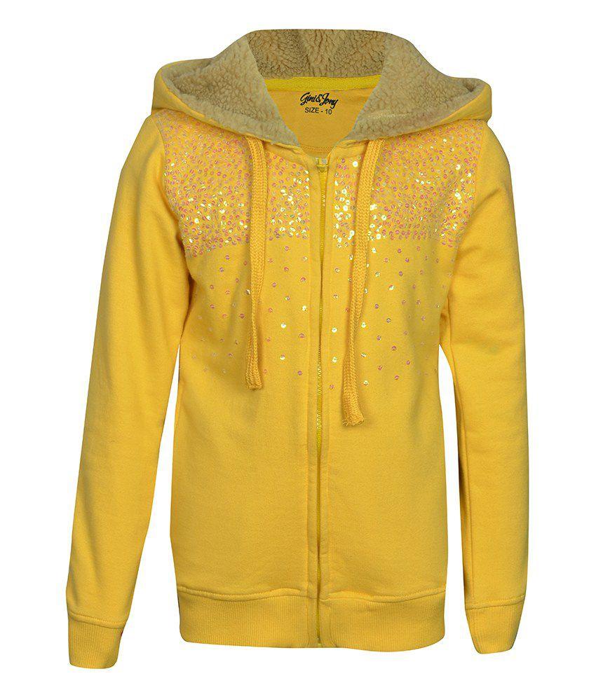 Gini & Jony Yellow Full Sleeves Jacket