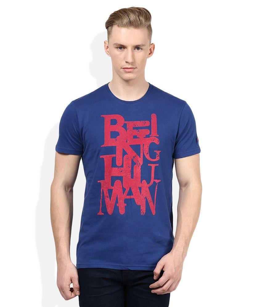 Being Human Blue T-Shirt