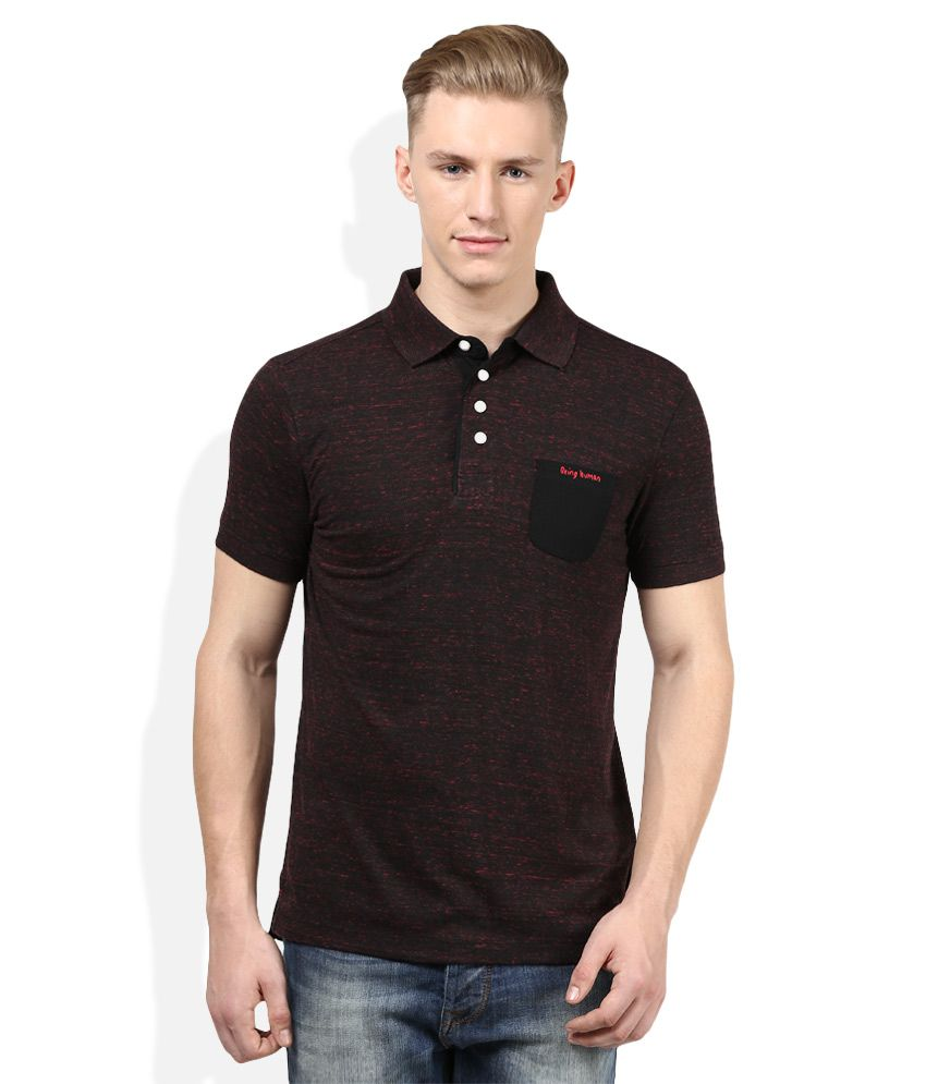 53d87a99 Being Human Black Solid Polo T Shirt - Buy Being Human Black Solid Polo T  Shirt Online at Low Price - Snapdeal.com