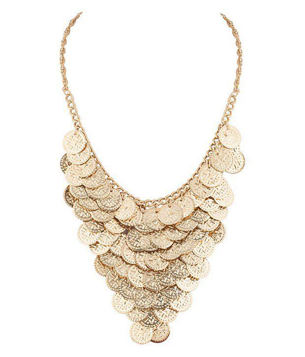 Shilpi Handicrafts Gold CZ Stone Necklace