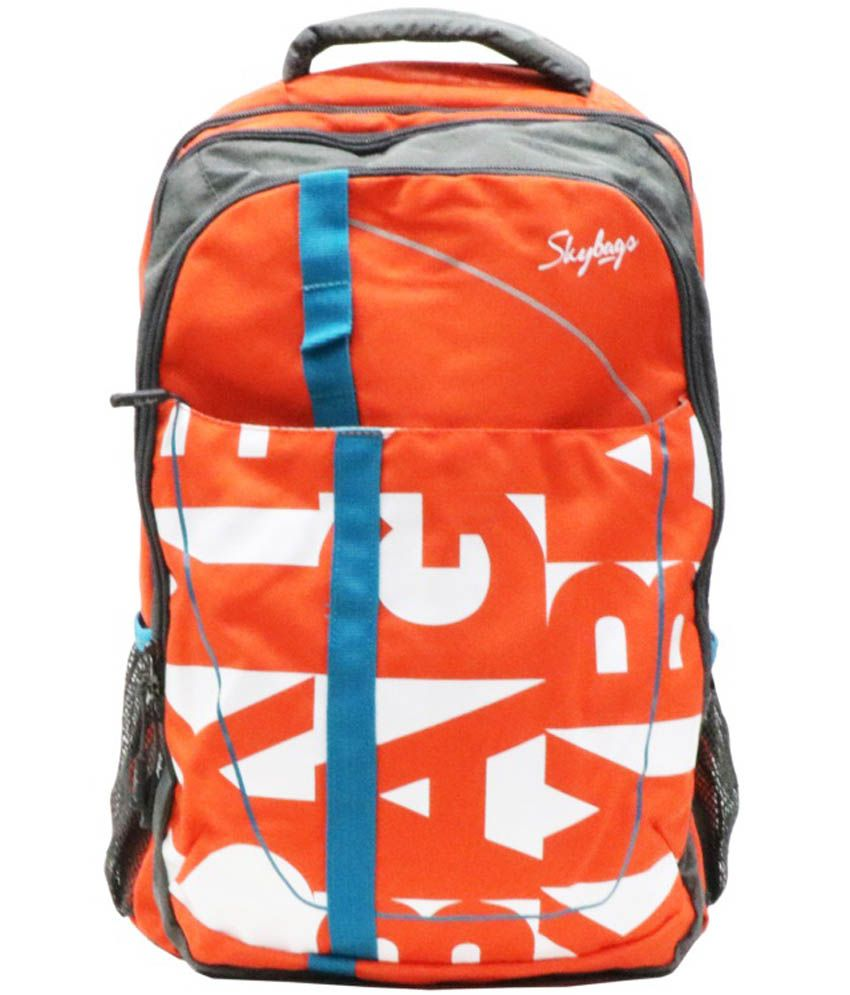 ffd3122e7c Skybags Orange Backpack - Buy Skybags Orange Backpack Online at Low Price -  Snapdeal