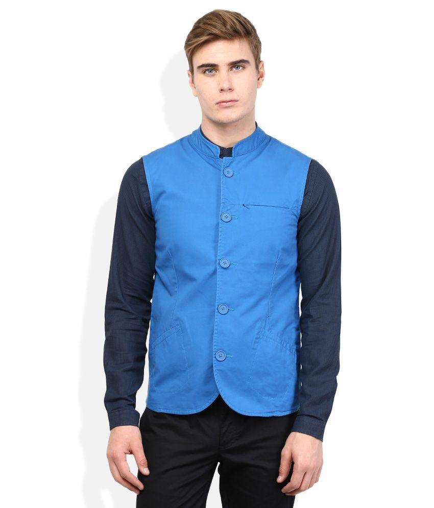 United Colors Of Benetton Blue Waistcoat