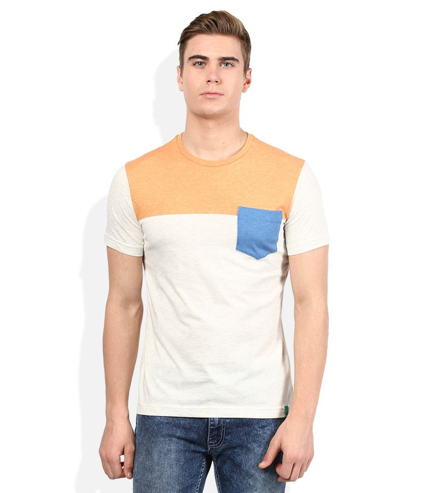 United Colors Of Benetton White Round Neck T-Shirt