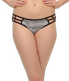 Clovia Printed Bond Girl Bikini Brief/Panty In Black